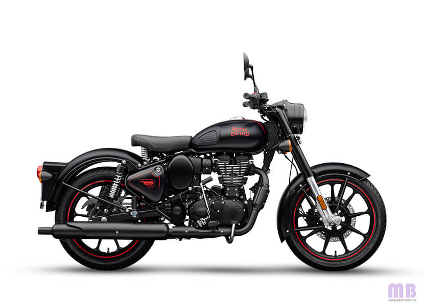 Royal Enfield Classic 350 Stealth Black Dual Channel