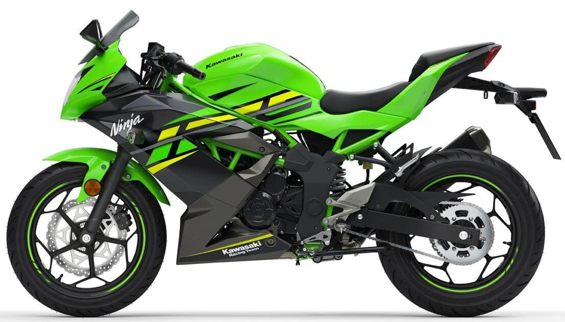 Kawasaki Ninja 125 side view
