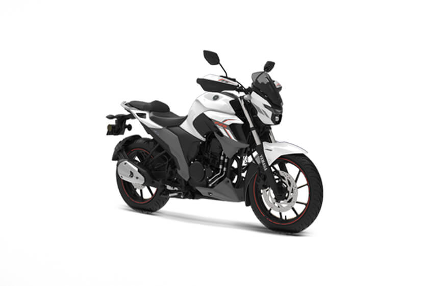 Yamaha FZS 25 White-Vermillion