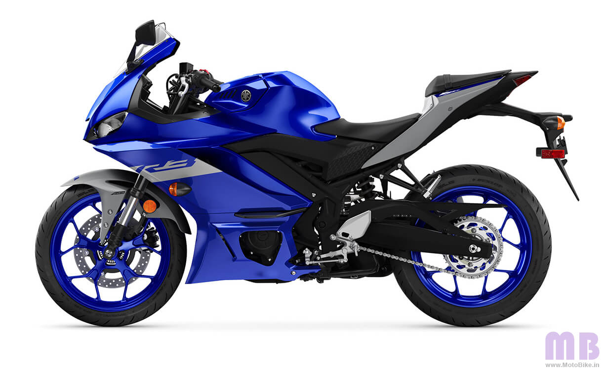 Yamaha YZF R3 Racing Blue view