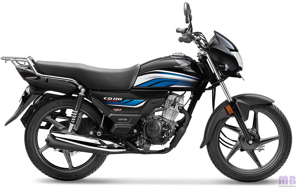 Honda CD 110-Black with Blue-Standard