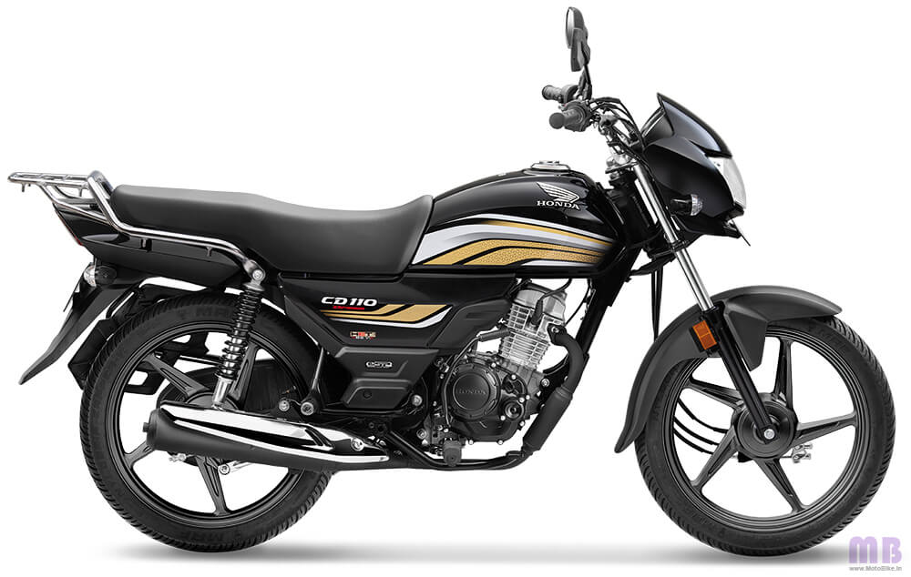 Honda CD 110-Black with Cabin Gold-Standard