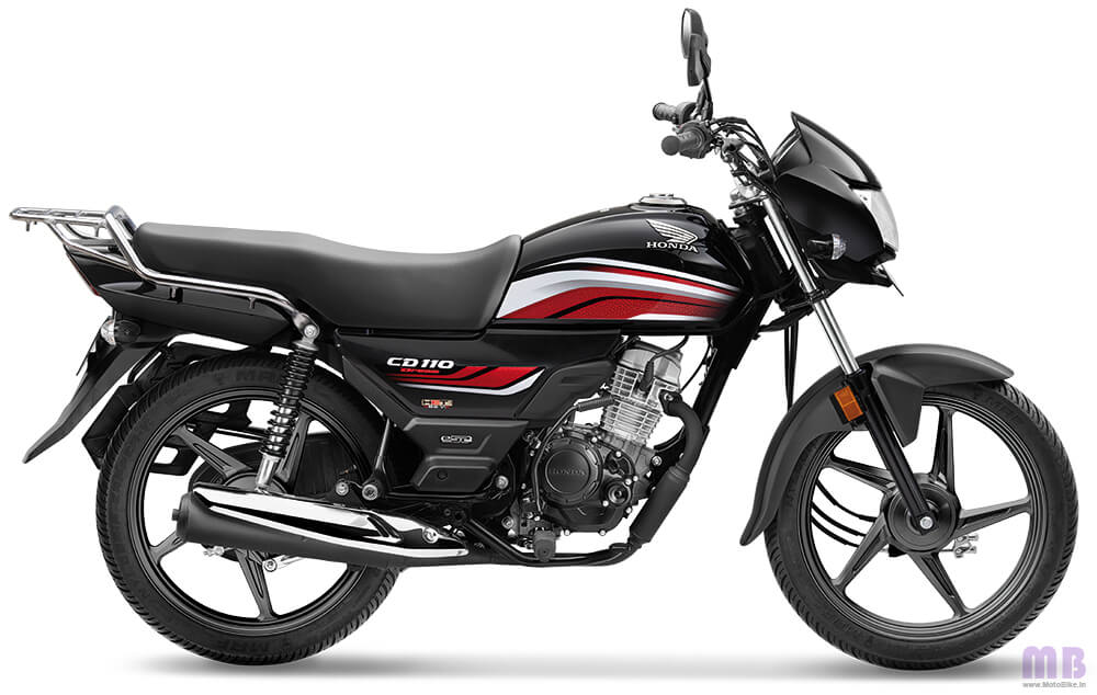 Honda CD 110-Black with Red-Standard