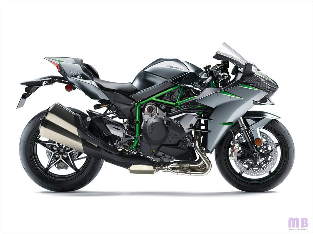 Kawasaki Ninja H2 Carbon - Mirror Coated Matte Spark Black