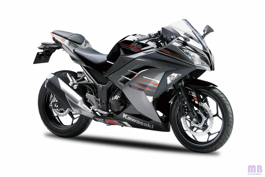 Kawasaki Ninja 300 - Ebony Metallic Moon Dust Gray