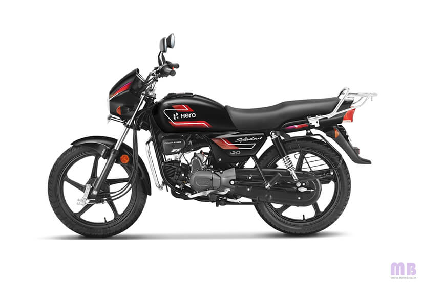 Hero Splendor Plus - Black And Accent Edition - Bettle Red