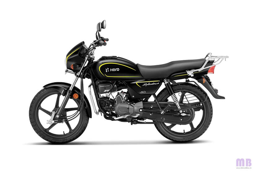 Hero Splendor Plus - Black And Accent Edition - Bumble Bee Yellow