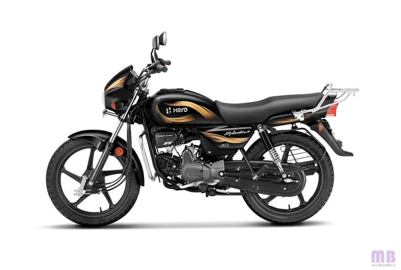 Hero Splendor Plus - Black And Accent Edition - Firefly Golden