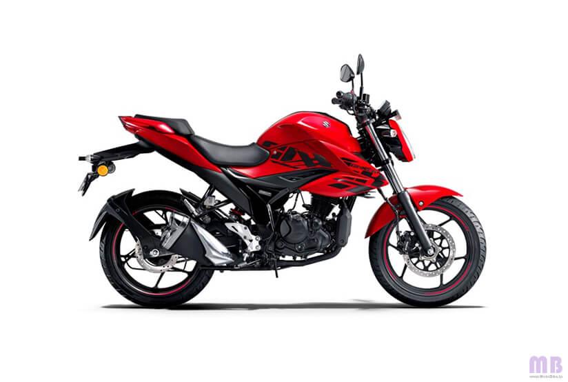 Suzuki Gixxer - Pearl Mira Red