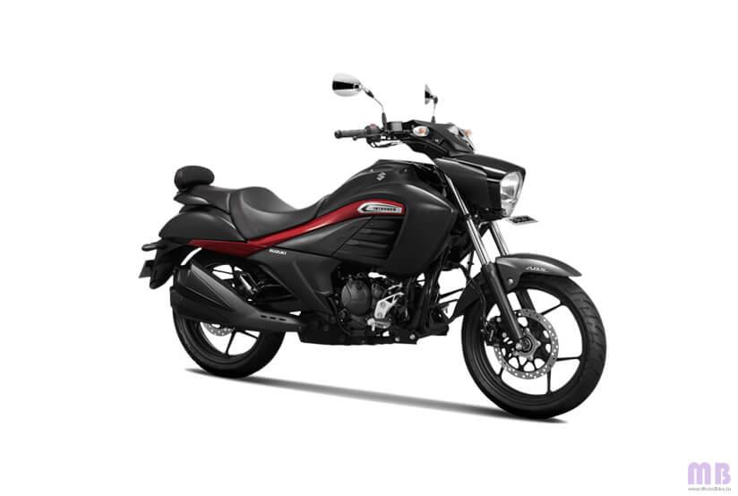Suzuki Intruder 150 - Metallic Matte Black/Candy Sanoma Red