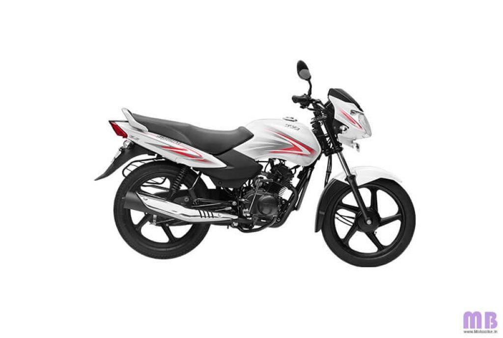 TVS Sport BS6 - White Red