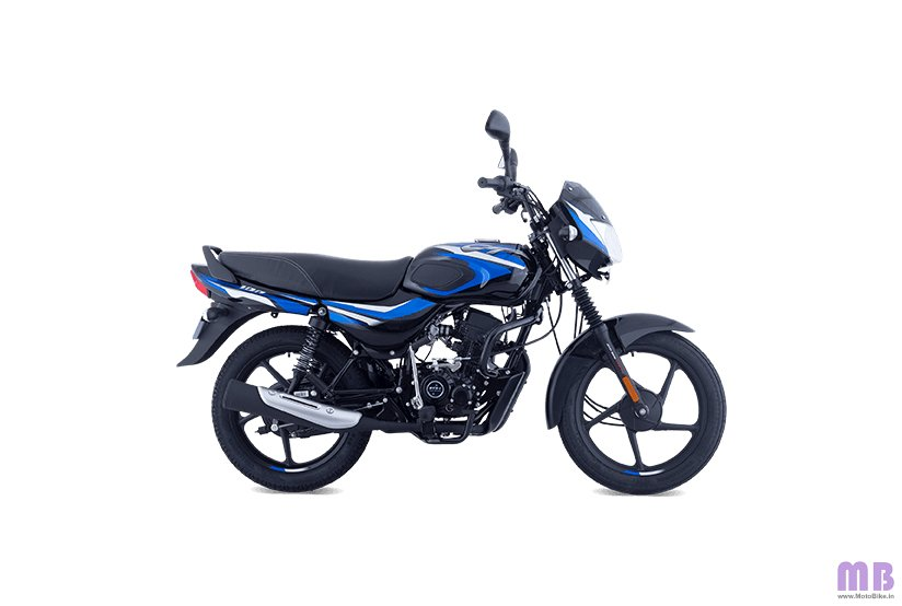 Bajaj CT 100 BS6 - Gloss Ebony Black with Blue Decals