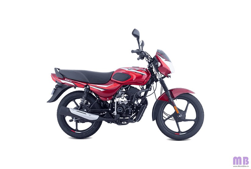 Bajaj CT 100 BS6 - Gloss Flame Red with Bright Red Decals