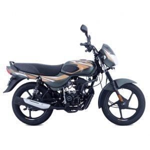 Bajaj CT 100 BS6 - Matte Olive Green with Yellow Decals