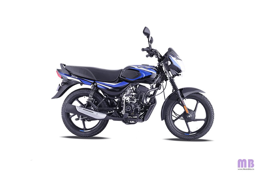 Bajaj CT 110 BS6 - Gloss Ebony Black with Blue Decals