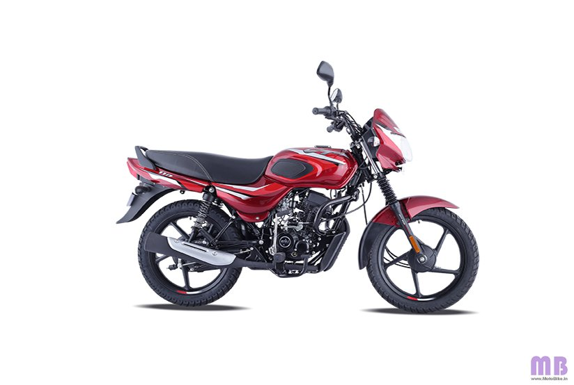 Bajaj CT 110 BS6 - Gloss Flame Red with Bright Red Decals