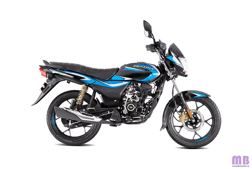 Bajaj Platina 110 H Gear BS6 - Black with Blue