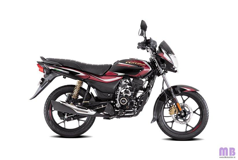 Bajaj Platina 110 H Gear BS6 - Black with Red