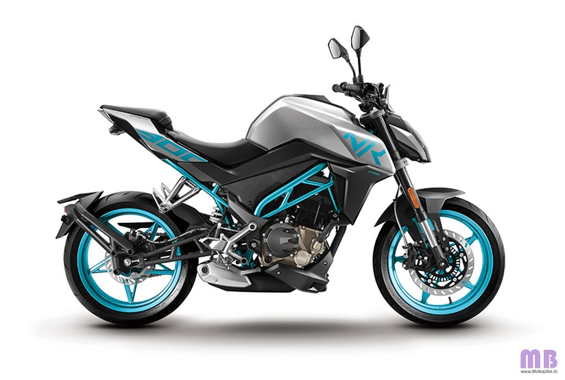 CFMoto 300NK BS6 - Sky Blue With Silver