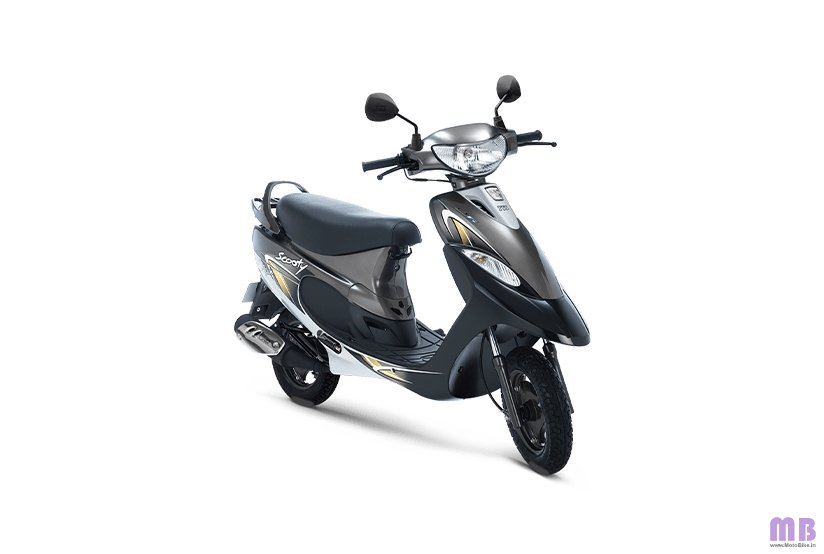 TVS Scooty Pep Plus BS6 - Frosted Black