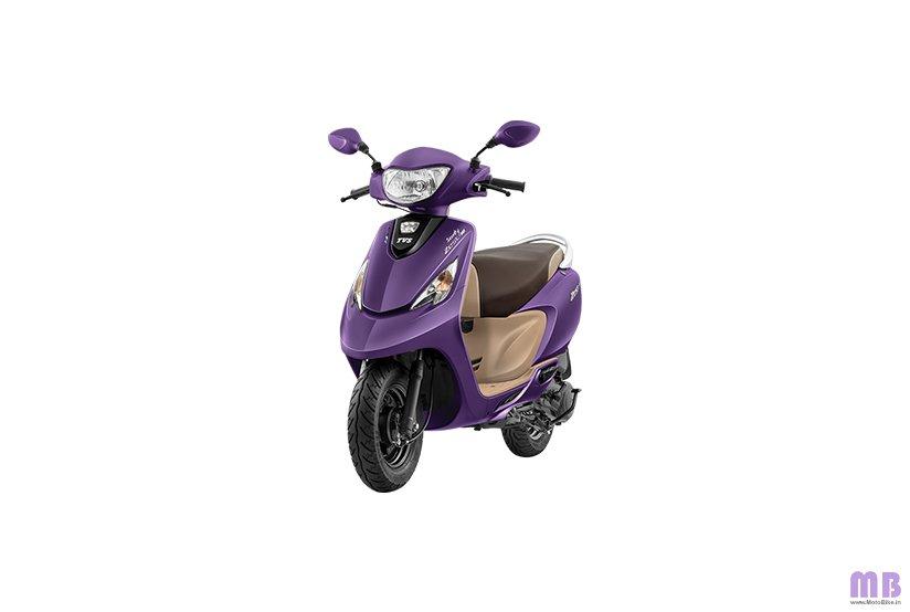 TVS Scooty Zest 110 BS6 - Matte Purple