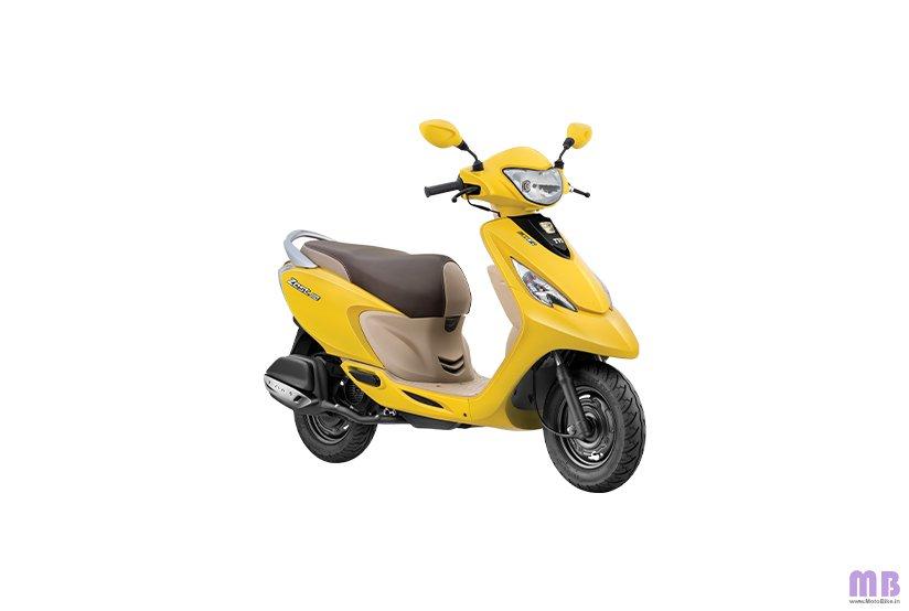 TVS Scooty Zest 110 BS6 - Matte Yellow
