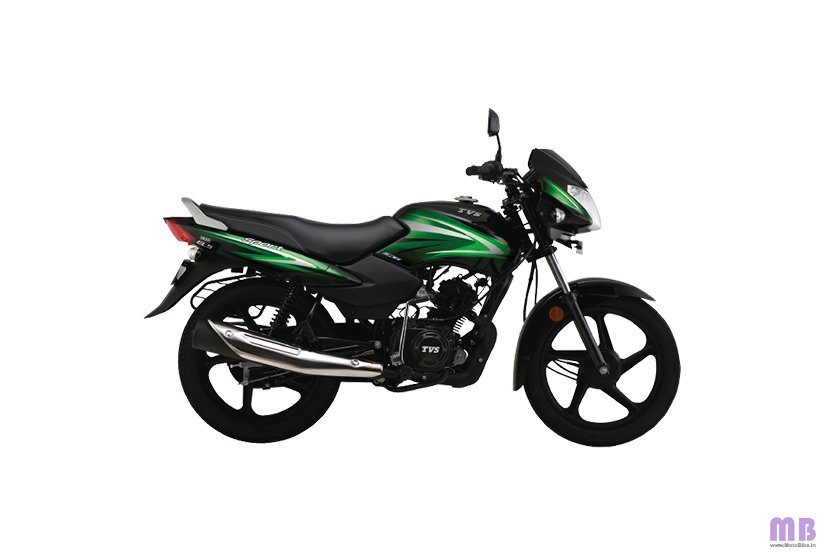 TVS Sport BS6 - Black Green