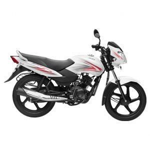 TVS Sport BS6 - White Red