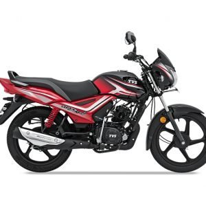 TVS Star City Plus BS6 - Black Red