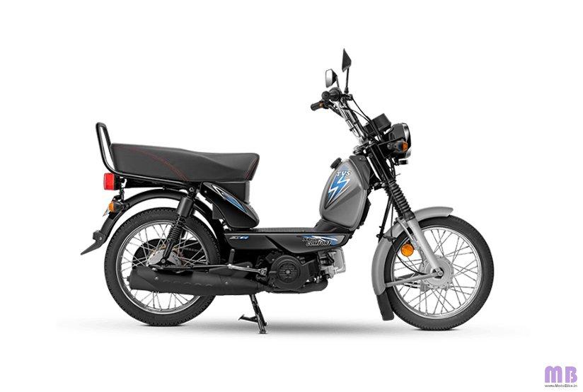 TVS XL100 Comfort BS6 - Kick - Grey Black