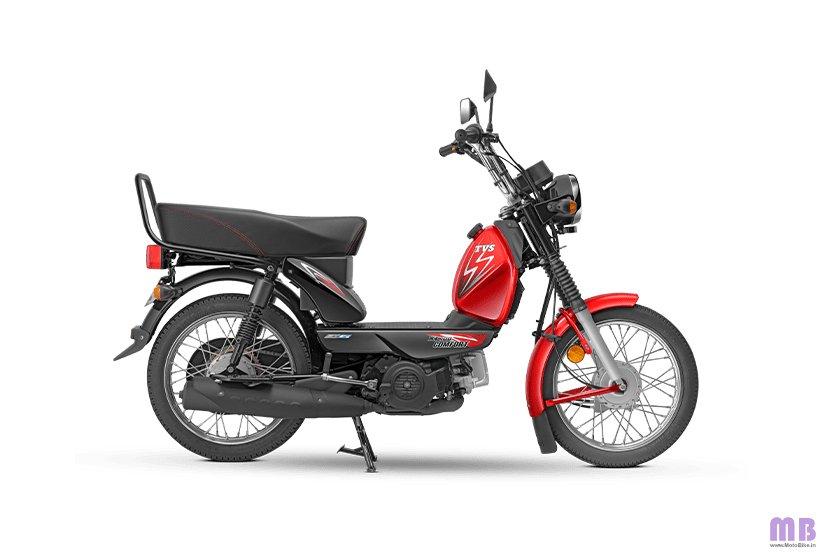 TVS XL100 Comfort BS6 - Kick - Red Black